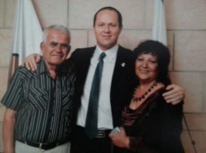 Esther & Benny with Nir Barkat